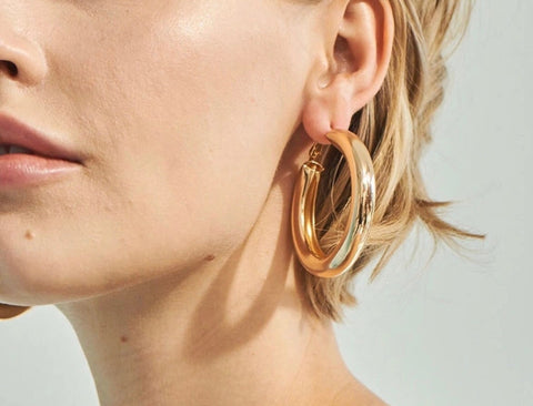 Earrings -  Chunky Circle Hoops