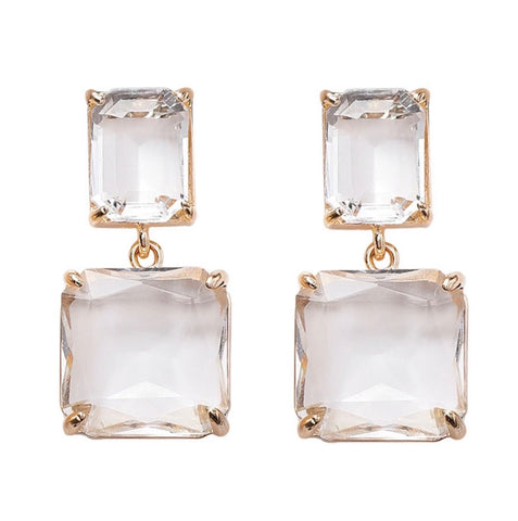 Earrings -  Square Diamond Earrings