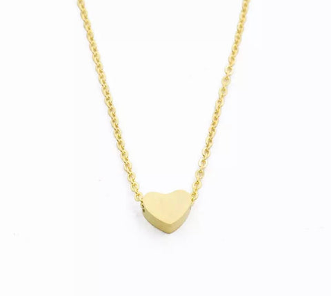 Necklaces - Gold Heart Necklace