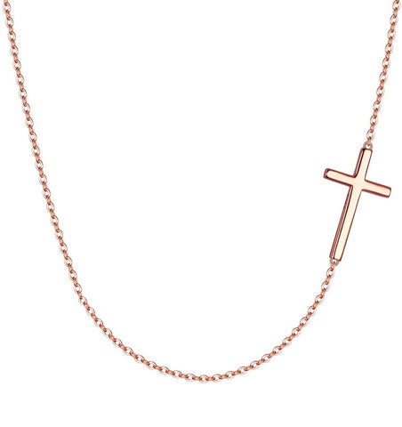 Necklaces - Gold Cross Necklace