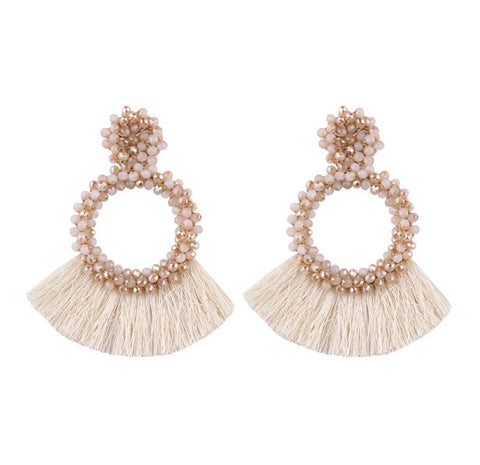 Earrings - Beaded Tassel Earrings