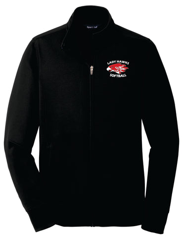 Rossview Hawks Softball Ladies Fleece Jacket