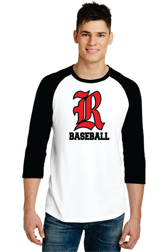 District ® Very Important Tee ® 3/4-Sleeve Raglan (Old English R)