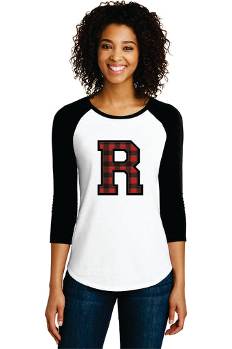 District ® Women's Fitted Very Important Tee ® 3/4-Sleeve Raglan (Standard R)