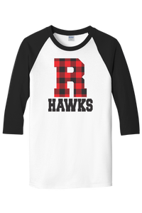 Rossview Hawks 3/4 Buffalo Plaid Raglan