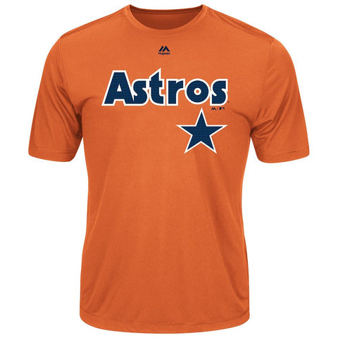 MAJESTIC® COOPERSTOWN EVOLUTION WICKING T-SHIRT - Astros