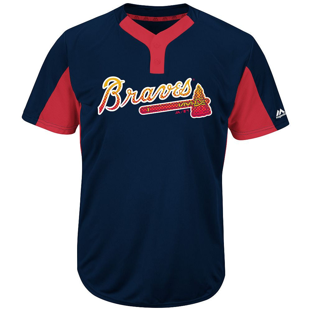 MAJESTIC® MLB® PREMIER TWO-BUTTON COLORBLOCKED JERSEY - Braves