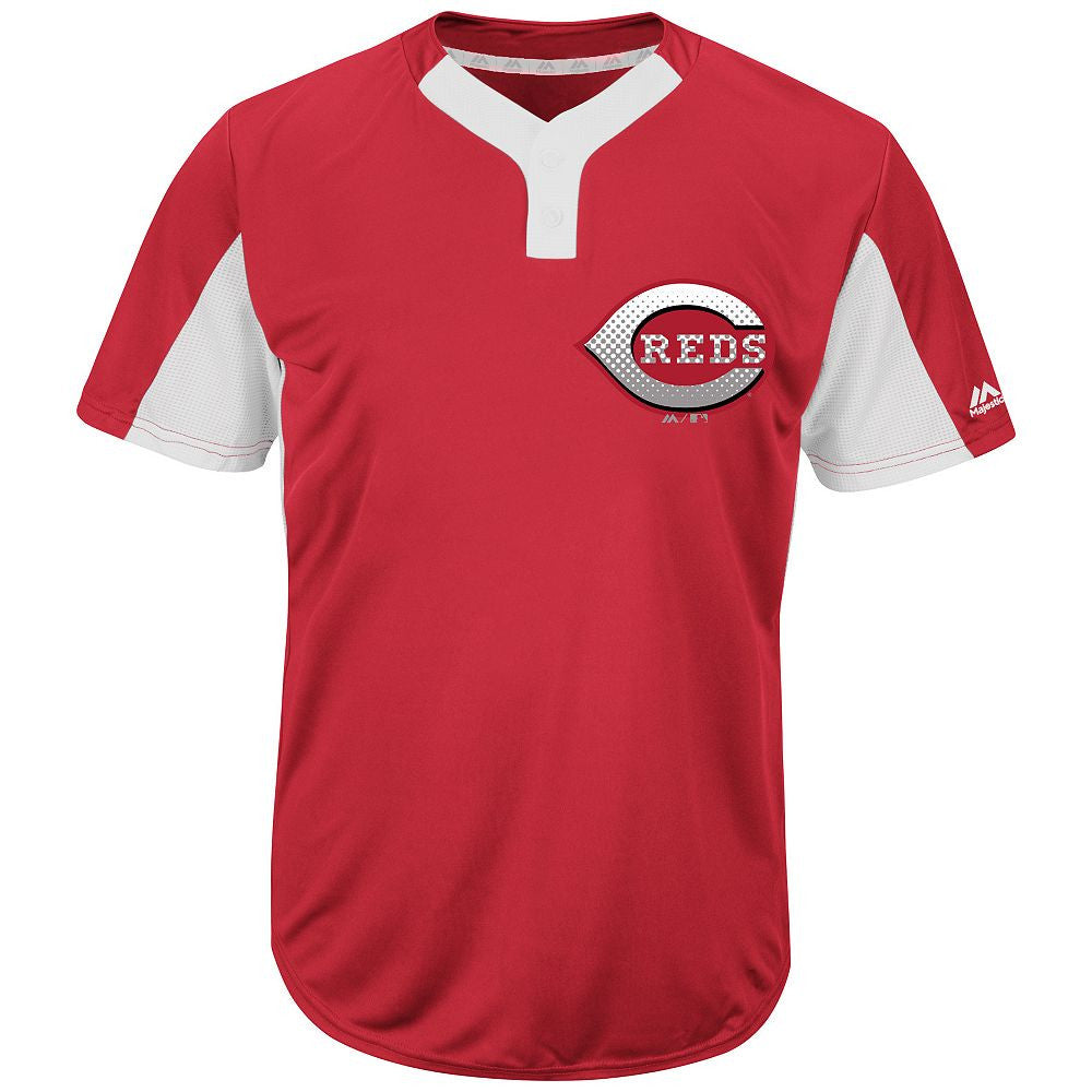 MAJESTIC® MLB® PREMIER TWO-BUTTON COLORBLOCKED JERSEY - Reds