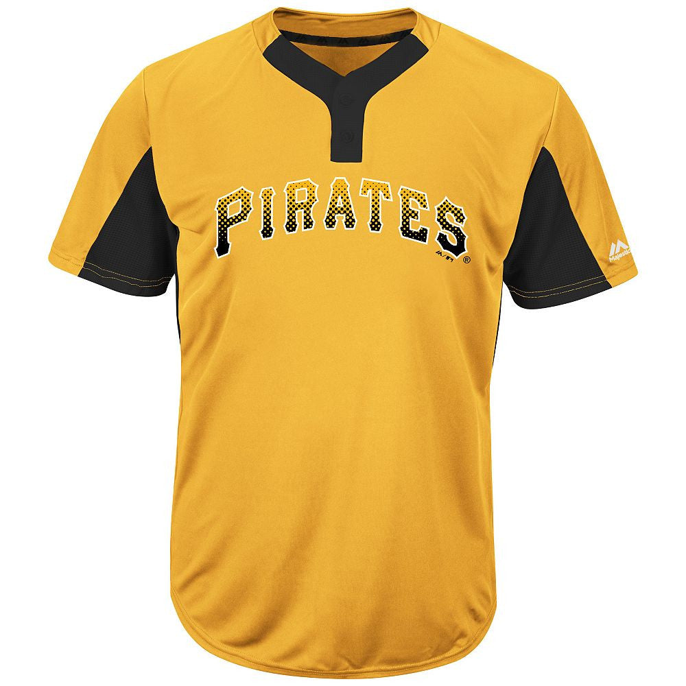 MAJESTIC® MLB® PREMIER TWO-BUTTON COLORBLOCKED JERSEY - Pirates