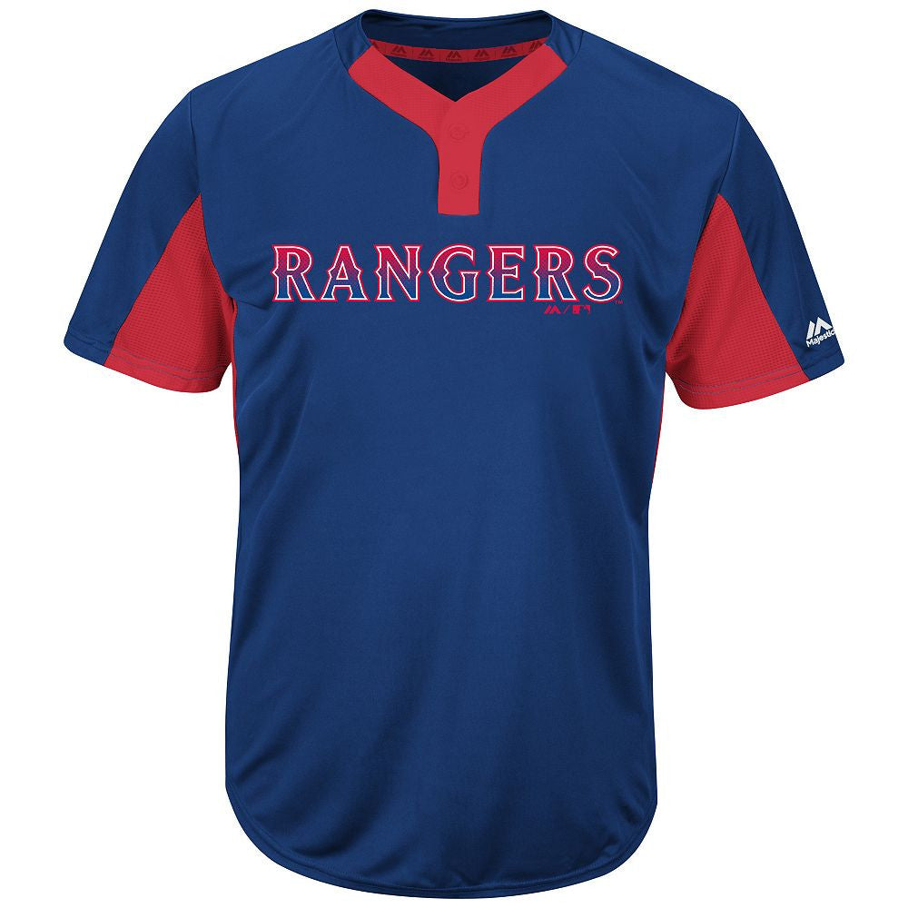 MAJESTIC® MLB® PREMIER TWO-BUTTON COLORBLOCKED JERSEY - Rangers