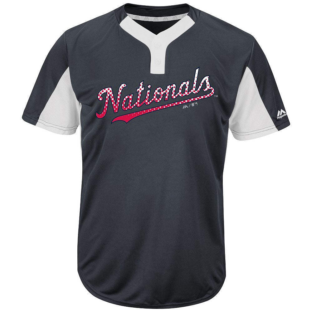 MAJESTIC® MLB® PREMIER TWO-BUTTON COLORBLOCKED JERSEY - Nationals
