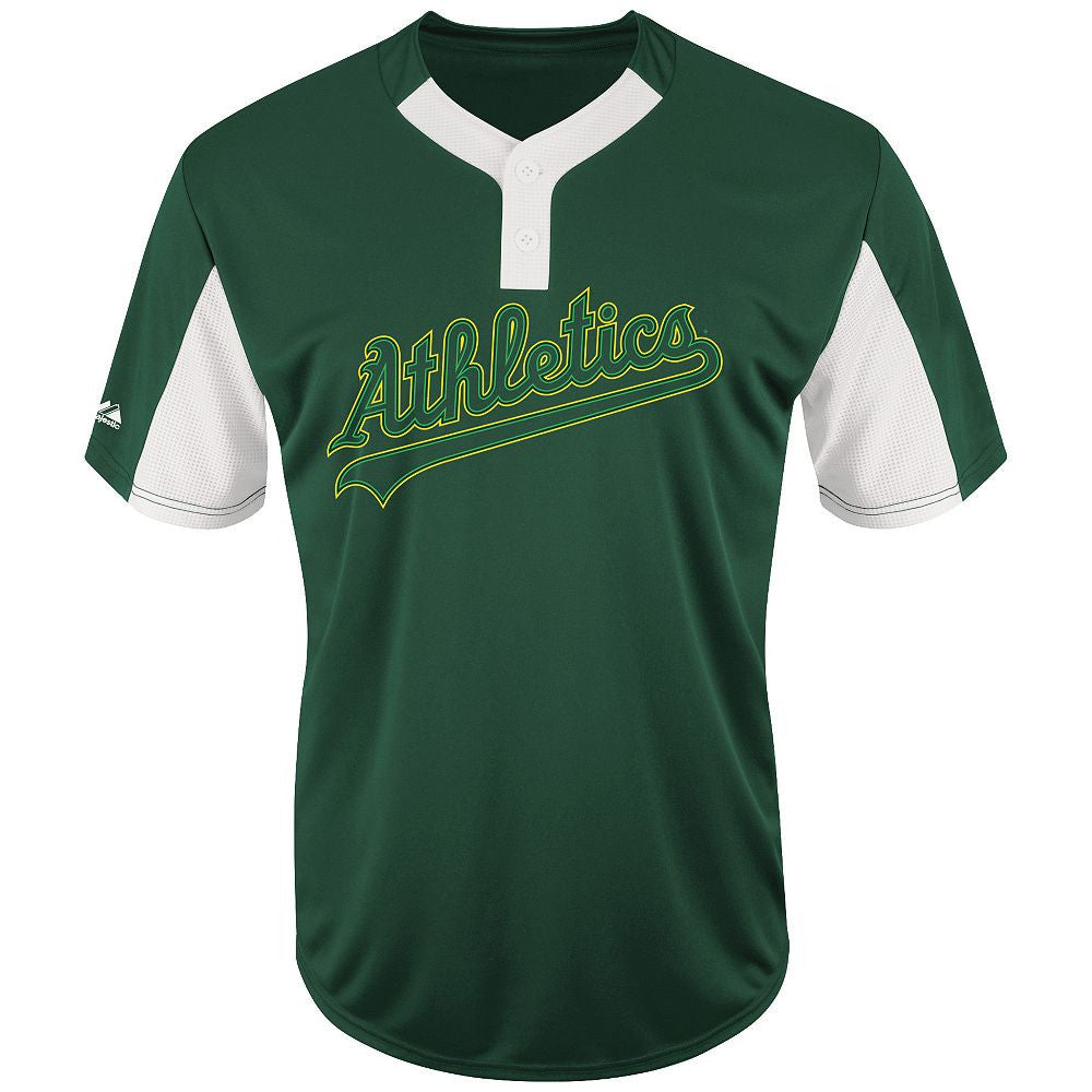 MAJESTIC® MLB PREMIER EAGLE TWO-BUTTON JERSEY - Athletics