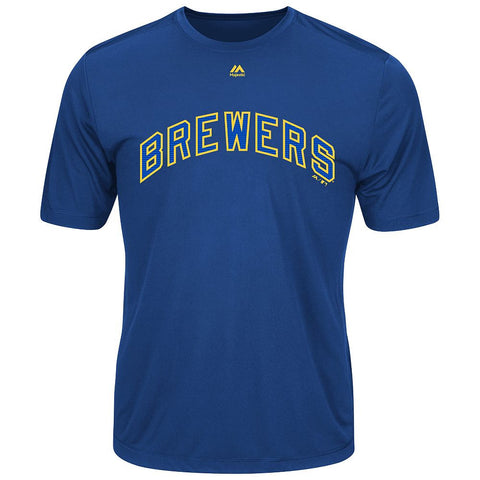 MAJESTIC® COOPERSTOWN EVOLUTION WICKING T-SHIRT - Brewers
