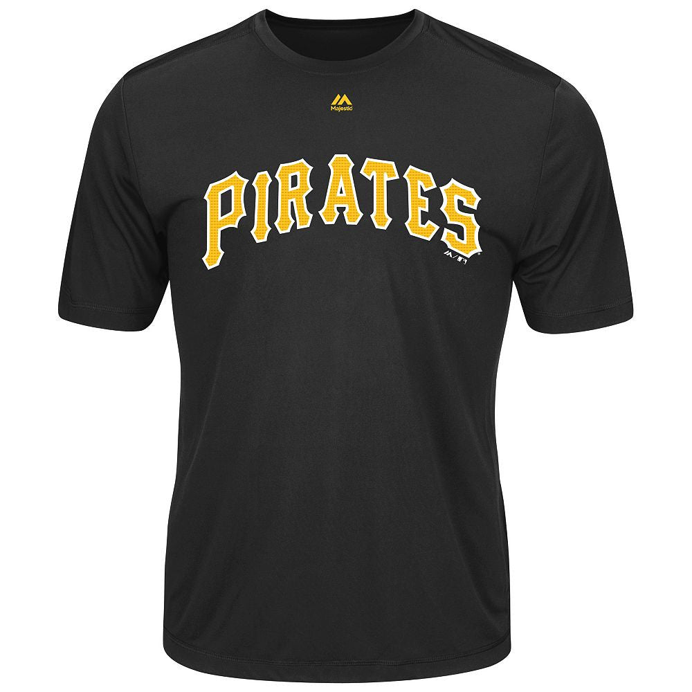 MAJESTIC® COOPERSTOWN EVOLUTION WICKING T-SHIRT -Pirates
