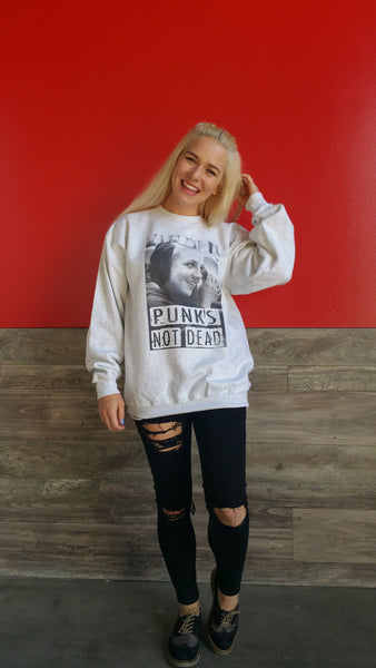 Punk is not Dead Crew Neck Sweatshirt