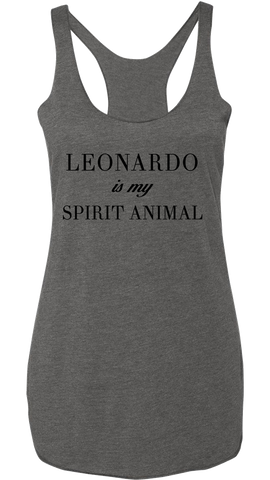 Leonardo is my Spirit Animal Racerback Tank