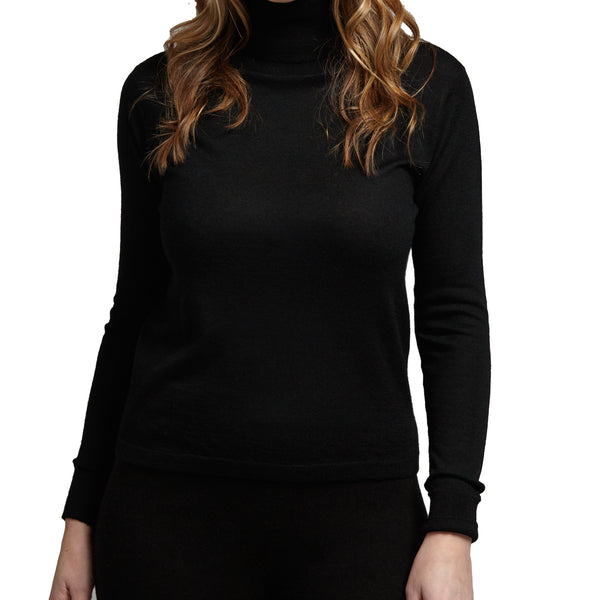 100% pure fine cashmere black sweater