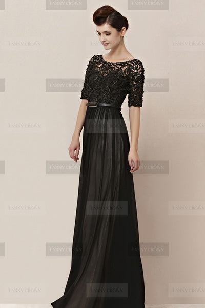 evening gown handmade online cheap dark laces