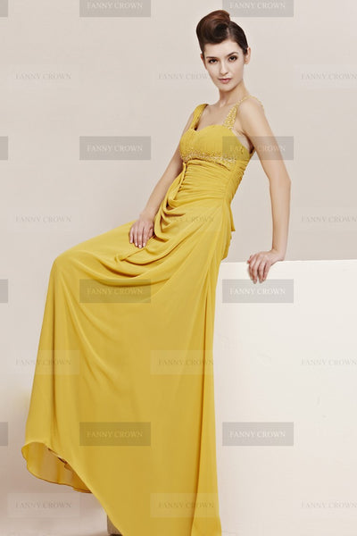 Sweetheart yellow dress