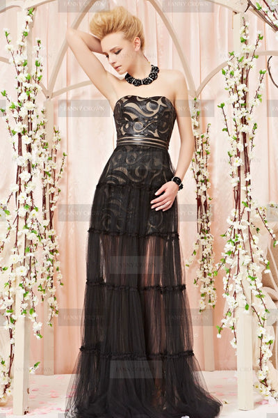 black evening gown reasonably priced