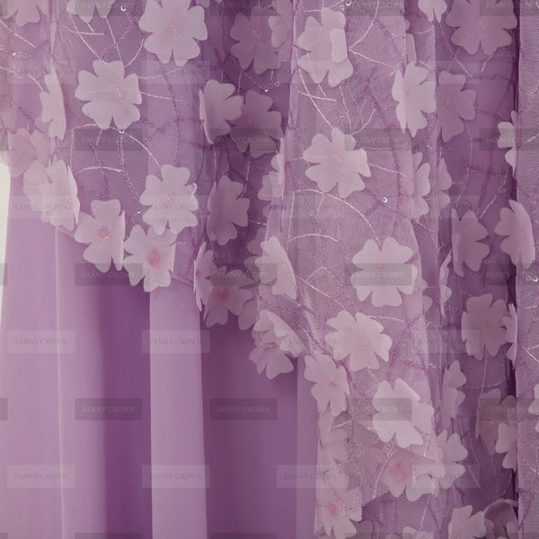 Lovely Spring One Shoulder Lilac Party Dress