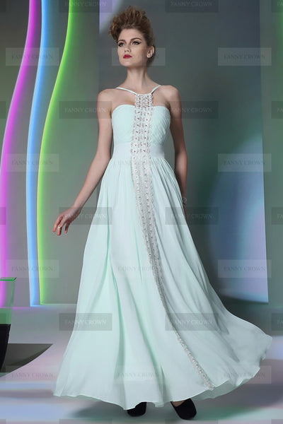 debs white long chiffon dress with lustrous crystals an eye-pleaser online