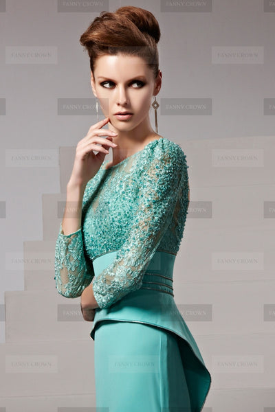 coming-out dresses handmade long sweeping train lace beadings