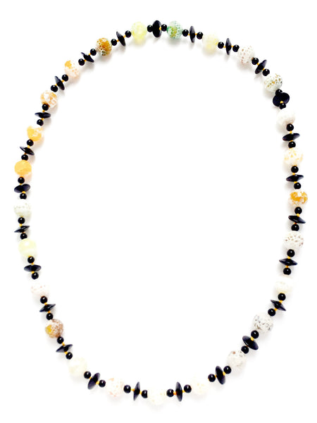 Chalcedony Agate Statement Necklace Yellow Green