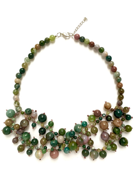 colourful short statement necklace agate by deep statement
