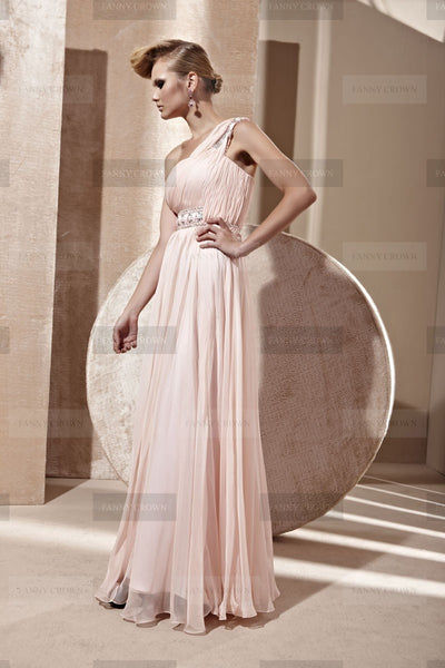 evening gown cheap online handmade blushing pink