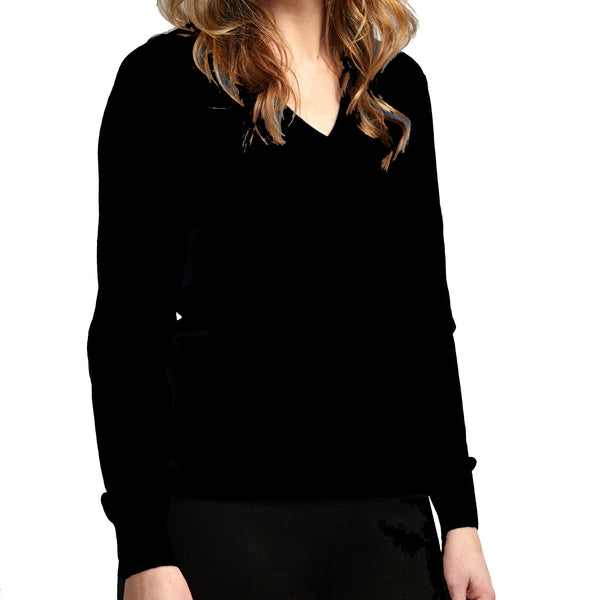 100 % pure fine cashmere sweater black