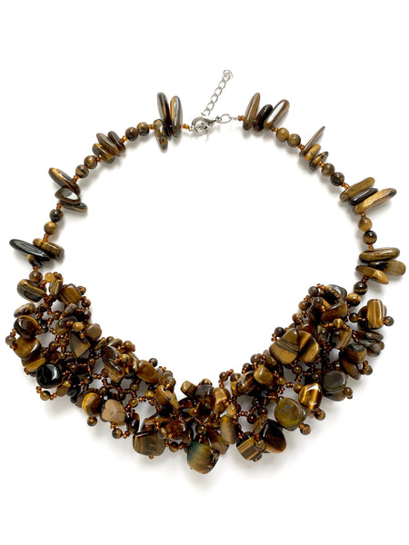 tigers eye statement necklace by deep statement