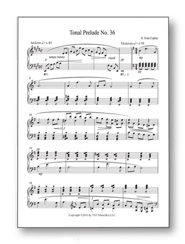 1st page of tonal prelude #36