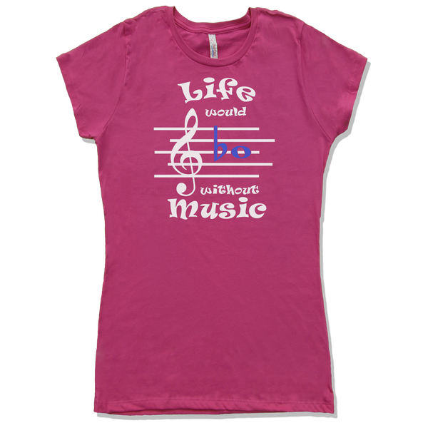 Life Would Bb Without Music, Womens - TntMusicBox - 3