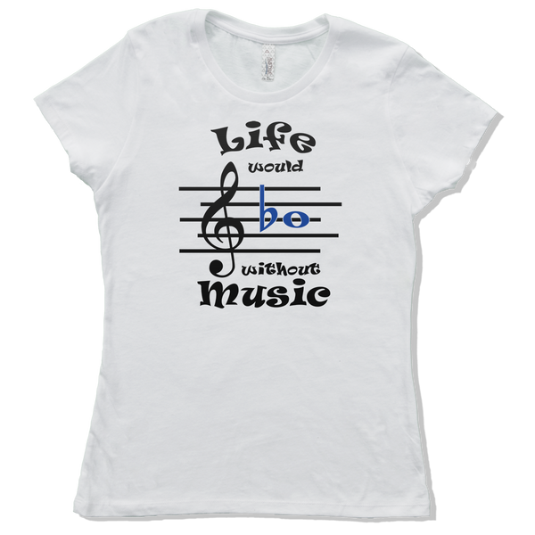 Life Would Bb Without Music, Womens - TntMusicBox - 4