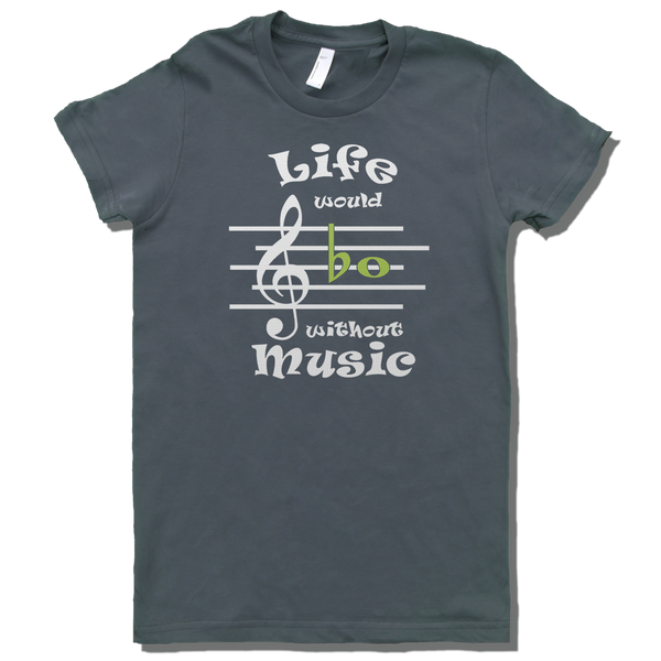 Life Would Bb Without Music, Womens - TntMusicBox - 1