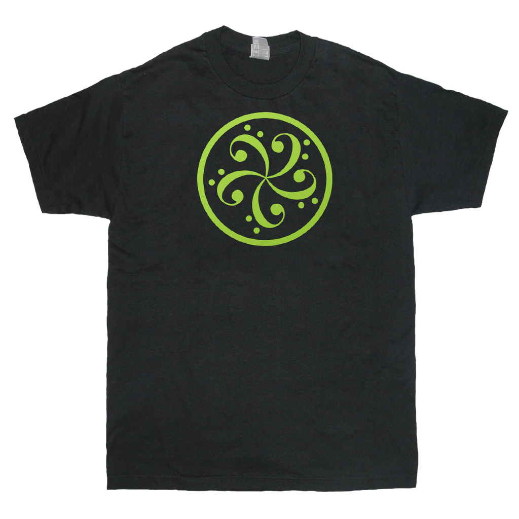 bass clef music t-shirt design mens black