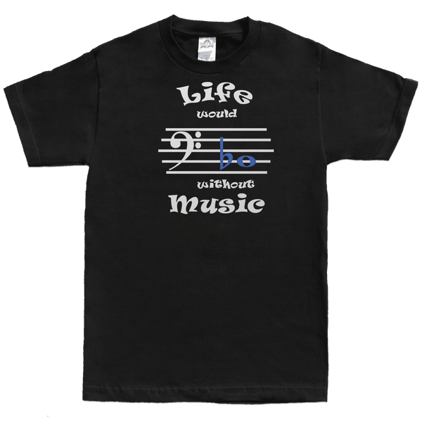 Life Would Bb Without Music, Bass Clef, Mens - TntMusicBox - 3