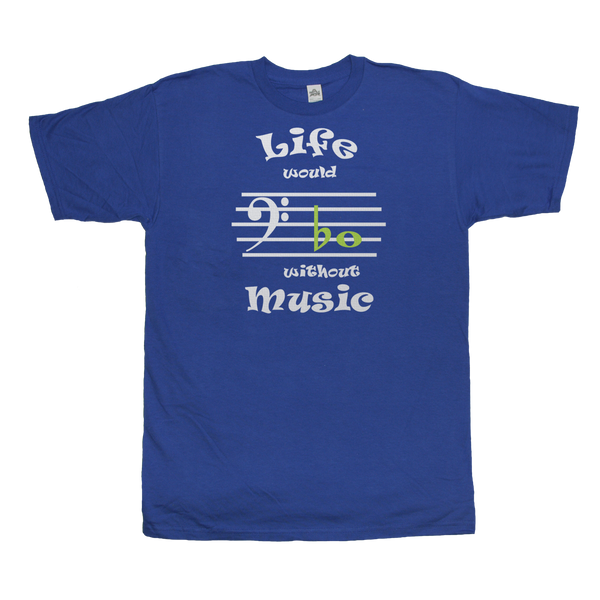 Life Would Bb Without Music, Bass Clef, Mens - TntMusicBox - 2