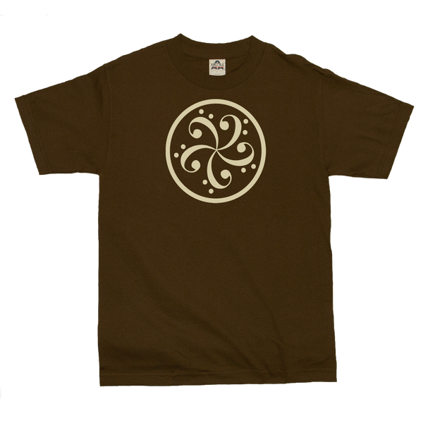 bass clef music t-shirt design mens v-neck brown
