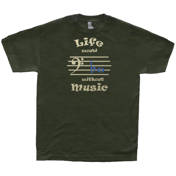 Life Would Bb Without Music, Bass Clef, Mens - TntMusicBox - 7