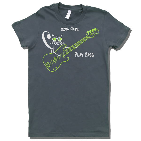 Cool Cats Play Bass, Womens - TntMusicBox - 4