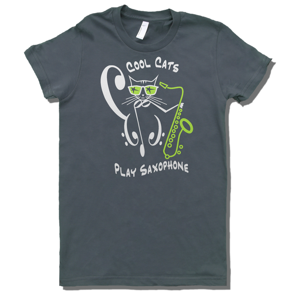 Cool Cats Play Saxophone, Womens - TntMusicBox - 3