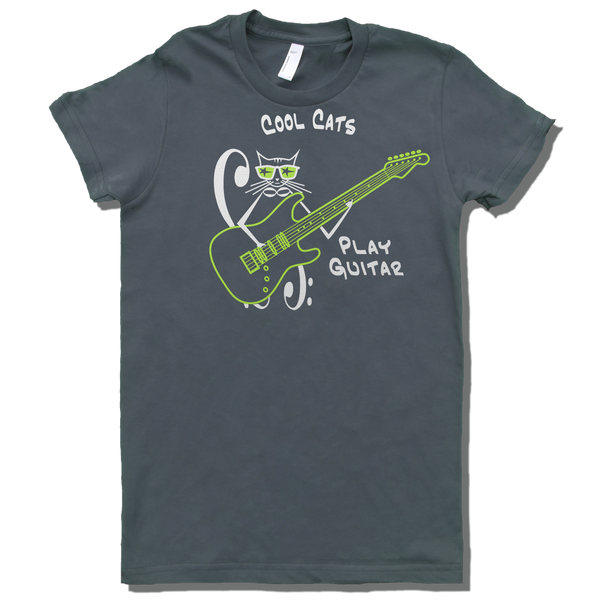 Cool Cats Play Strat, Womens - TntMusicBox - 2