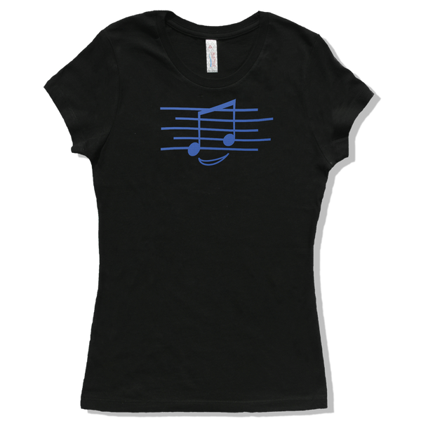 Eighth Note Smiley, Womens - TntMusicBox - 2