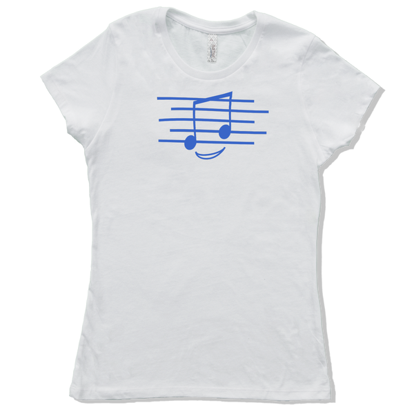 Eighth Note Smiley, Womens - TntMusicBox - 4