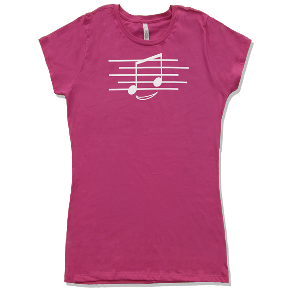 Eighth Note Smiley, Womens - TntMusicBox - 1