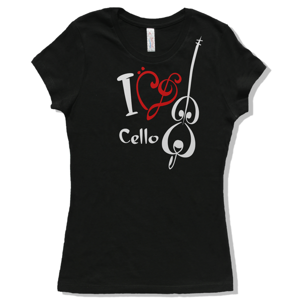 I Love Cello, Womens - TntMusicBox - 6