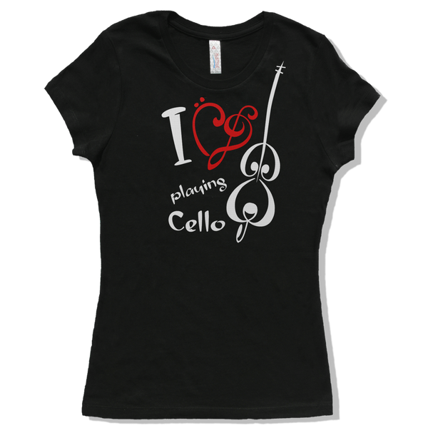 I Love Cello, Womens - TntMusicBox - 2