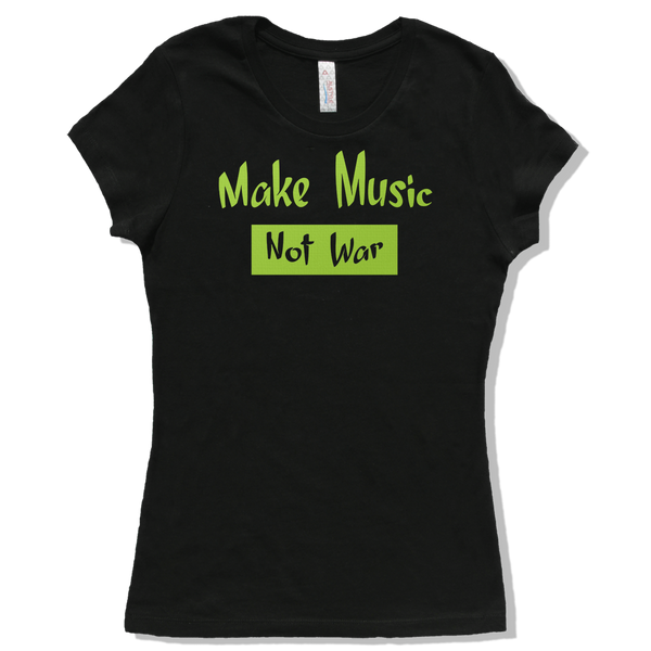 Make Music Not War, Womens - TntMusicBox - 3